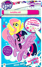 INKredibles Mess Free Invisible Ink My Little Pony (Invisible Image appear Like Magic!)