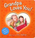 Grandpa Loves You! Board Book (with slot to insert child's photo)