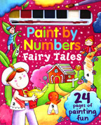 Paint by Numbers Fairy Tales with 7 colors of paint & a paintbrush