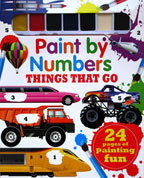 Paint by Numbers Things That Go with 7 colors of paint & a paintbrush