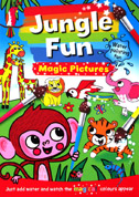 Jungle Fun Magic Painting Book - Just Add Water and Watch the Magical Colours Appear **(BONUS FREE Paintbrush)**