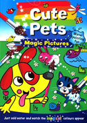 Cute Pets Magic Painting Book - Just Add Water and Watch the Magical Colours Appear **(BONUS FREE Paintbrush)**