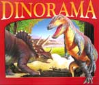 DINORAMA with huge 3D pop-up dinosaur world