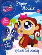Paper Models Littlest PetShop Spaniel and Monkey - Pop Fold Play! (no scissors required!)
