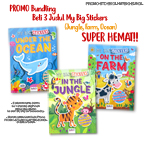 PROMO Paket Bundling Beli 3 buku My Big Stickers: Jungle, Farm, Ocean SUPER HEMAT!