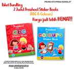 PROMO Special Price Paket Bundling 2 Judul Preschool Sticker Books