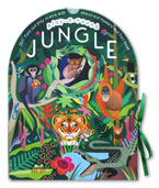 Play-a-Round Jungle 360° Fold-out Play Scene With Press-Out Models and Fact Book