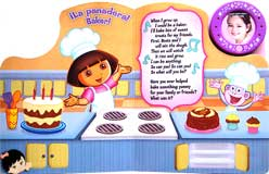 Dora the Explorer - Lights, Music & Me! When I Grow Up Board Book with Music, Blinking Lights & Photo Frame