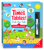 Let's Learn Times Tables!  Pull The Tab to Reveal the Answers (Wipe Clean Reusable Pages - Key Stage 2)
