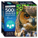 Jigsaw Gallery 500 Pieces Shaped Jigsaw Puzzle Owl (Includes Wall-Art Mounting Kit)