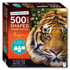 Jigsaw Gallery 500 Pieces Shaped Jigsaw Puzzle Tiger (Includes Wall-Art Mounting Kit)