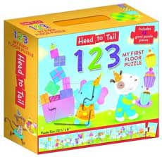 Head to Tail 123 My First Floor Puzzle Includes 12 Giant Puzzle Pieces