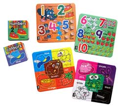 Smart Learner Numbers & Colours includes 2 Block Books & 4 Puzzles