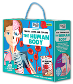 Travel, Learn and Explore – The Human Body (200 Pieces + 10 Special Oversize Pieces and A 32-Page Book!)