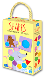 Puzzle 2 - Shapes (Includes 10 Page Book + 10 Piece Puzzles)