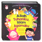 Allah Tuhanku Islam Agamaku Lift-the-Flaps, Pop-Up, Wipe and Clean Board Book