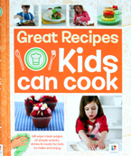 Great Recipes Kids Can Cook Book (48 wipe-clean pages of simple snacks, drinks & meal for kids to make and enjoy)