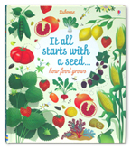 Usborne It All Starts With a Seed... How Food Grows