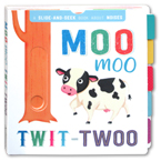 A Slide And Seek Book About Noises - Moo Moo Twit Twoo Board Book
