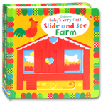 Usborne Baby's Very First Slide and See Farm Board Book