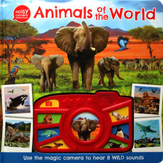 (SALE!) Animals of the World - Noisy Camera Adventure Sound Board Book with 8 Wild sounds