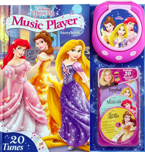 disney princess music player storybook with 20 tunes portable music