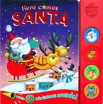 Here (SALE!) Comes Santa Sound Board Book With 4 Christmas Sounds!