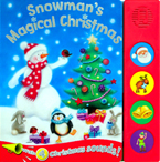 (SALE!) Snowman's Magical Christmas Sound Board Book With 4 Christmas Sounds!