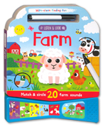 Wipe Clean Finding Fun - Listen & Look Farm Sound Board Book (Match & Circle 20 Farm Sounds)