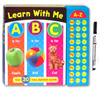 Learn with Me ABC Sound Book with over 30 noisy alphabet sounds + FREE BONUS wipe-clean marker (Black)