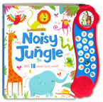 Noisy Jungle Mega Sound Board Book with 18 Fantastic Sounds