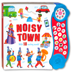 Noisy Town Mega Sound Board Book with 18 Fantastic Sounds
