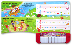 My First Music Book Piano Board Book with 6 of the Best-Loved Children's Songs to Learn and 3 Melodies to Hear!