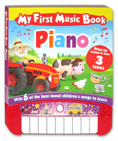 My First Music Book Piano Board Book with 6 of the Best-Loved Children