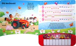 My First Piano Board Book with 6 of the Best-Loved Children's Songs to Learn and 3 Melodies to Hear!