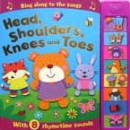 Head, Shoulders, Knees and Toes Super Sound Book with 8 Rhymetime Sounds