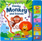 Cheeky Monkey and Friends Super Sound Book with 8 Funtime Sounds