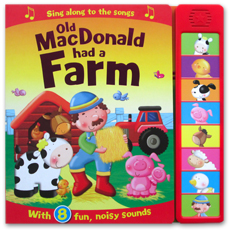Old MacDonald had a Farm Super Sound Book with 8 fun, noisy sounds