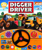 My First JCB DIgger Driver Sound Board Book with Steering Wheel and 11 fun Action Sounds
