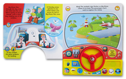 Big Plane's Long Journey Sound Board Book with Steering Wheel and 11 fun action sounds