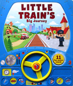 Little Train's Big Journey Sound Board Book with Steering Wheel and 11 fun action sounds