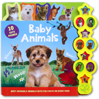 Baby Animals Tabbed Sound Board Book with 10 Cute Sounds & Fab Facts On Every Page