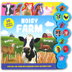 Noisy Farm Tabbed Sound Board Book with 10 Animal Sounds & Amazing Facts On Every Page