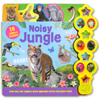 Noisy Jungle Tabbed Sound Board Book with 10 Jungle Sounds & Amazing Facts to Discover On Every Page