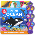 In The Ocean Tabbed Sound Board Book With 10 Animal Sounds & Explore The Ocean With Fun On Every Page