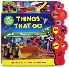Things That Go Tabbed Sound Board Book with 10 Vehicle Sounds & Fun Facts to Discover On Every Page (BIG NOV SALE)