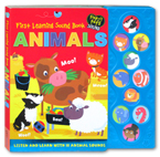 First Learning ANIMALS Tiny Tots Sound Board Book - Listen and Learn with 10 Animals Sounds