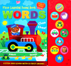 First learning WORDS Tiny Tots Sound Board Book - Listen and Learn with 10 First Sounds