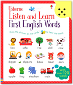 Usborne Listen and Learn : First English Words with Over 120 Words (Press the pictures on the cards to hear the words)