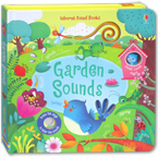 Usborne Garden Sounds - sound book with 10 touch-sounds, trails to touch & follow and peek-through holes